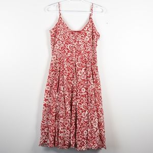 Anthropologie: Odille Red Floral Sun Dress 6